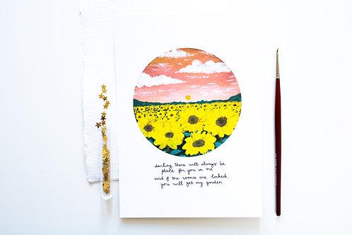 A5 Print 'Sunflowers'
