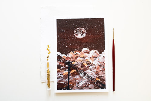 A5 Print 'Cloudy Night'