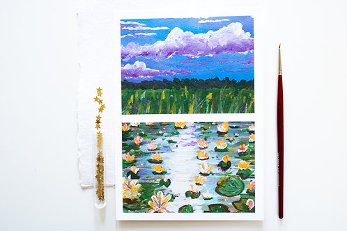 A5 Print 'Water lilies 02'