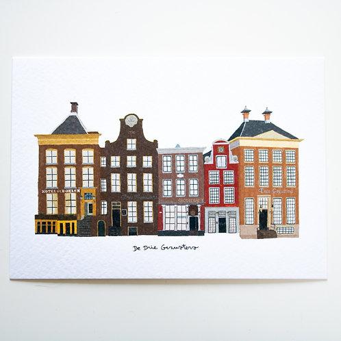 A6 Postcard De Drie Gezusters
