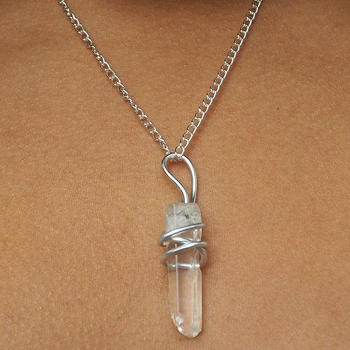 Clear Quartz Point Necklace