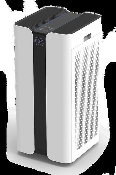 מטהר ומחטא את האוויר בחדרים באמצעות מודולי סינון שונים ואור UV-C.