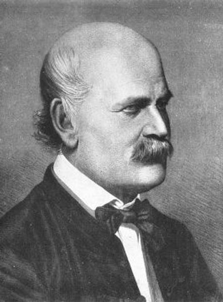 Ignaz Semmelwies.  Photo courtesy of Wikipedia