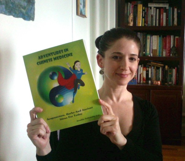 Jennifer Dubowsky with her book.