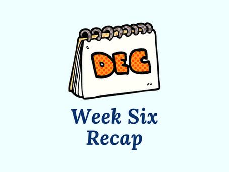 Writing Through the Bad Days - Week 6 Recap