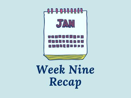 The Joy of a Slow First Draft - Week 9 Recap