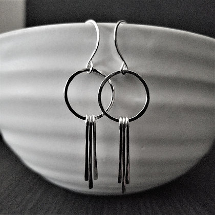 Paddle Earrings ~ Silver