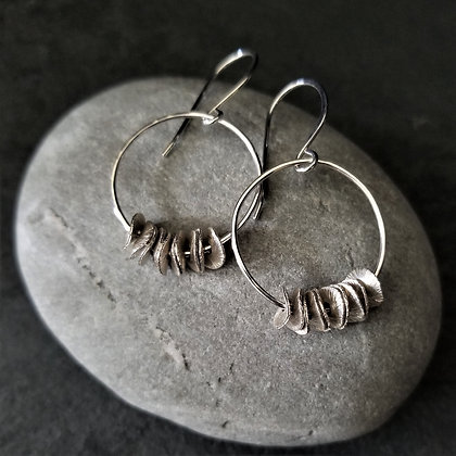 Ear Ruffle Earrings ~ Silver(WS)