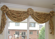 Custome window treatment cleaning : Swags and Rosettes