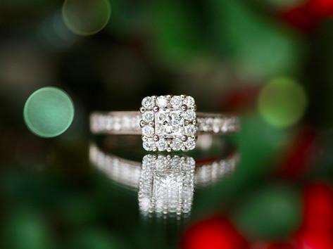 princess cut, engagement ring, halo, virginia beach jewelry store, hilltop pawnshop