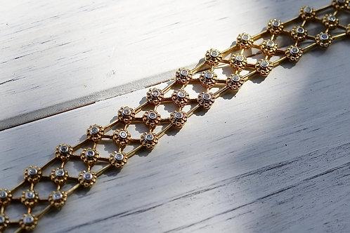 LATTICE DIAMOND FASHION BRACELET