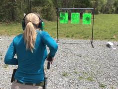 Chesapeake Gun Shop Girl, Girl shooting on Range in Virginia, Gunsmith Chesapeake Virginia, Virginia Beach Gun Shop
