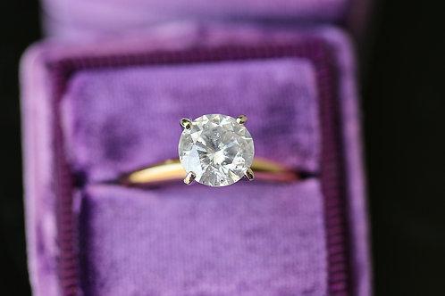 ROUND SOLITAIRE DIAMOND ENGAGEMENT RING