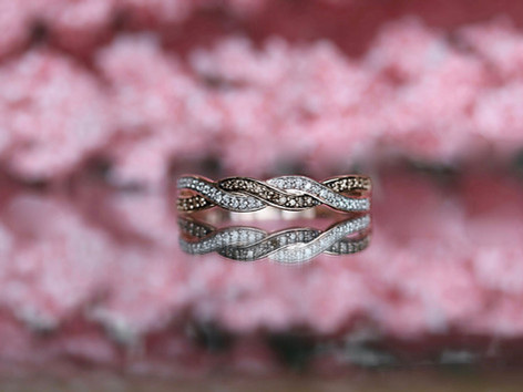 white diamond, chocolate diamond, rose gold, fashion ring, virginia beach jewelry store, hilltop pawn