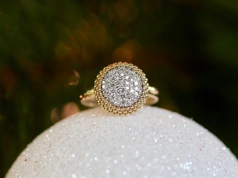 pave diamonds, fashion ring, gold, diamonds, virginia beach jewelry store, hilltop pawn shop