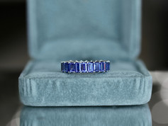 tanzanite, eternity ring, sterling silver, virginia beach jewelry store, hilltop pawn