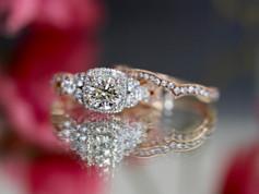 Rose Gold Engagement Rings Chesapeake Virginia, Rose gold wedding sets Chesapeake VA, Halo Style Wedding Sets Chesapeake VA, Wedding Sets Chesapeake Virginia