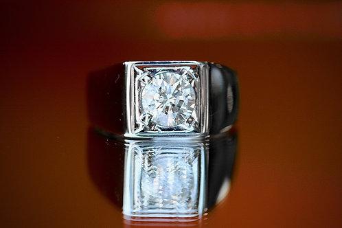 MENS ROUND DIAMOND RING