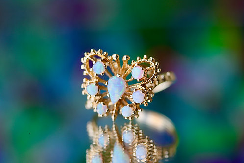 OPAL BUTTERFLY FASHION RING