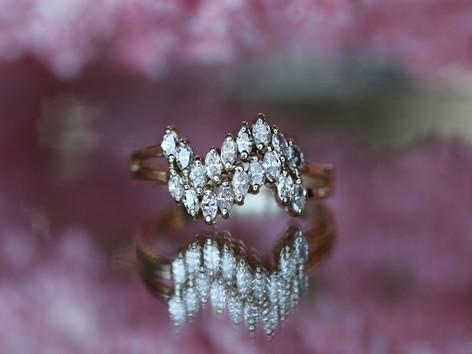 marquise diamonds, fashion ring, yellow gold, virginia beach jewlery store, hilltop pawn shop