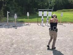 Chesapeake Virginia Gun Shop, Virginia Beach VA Gun Shop, Girl on Range Chesapeake Virginia, Girl Shooting Virginia Beach VA