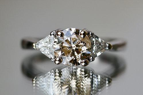 ROUND CHAMPAGNE DIAMOND RING