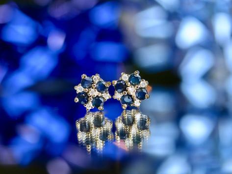 sapphire studs, gemstone jewelry, fashion jewelry, virginia beach jewlery store, hilltop pawn