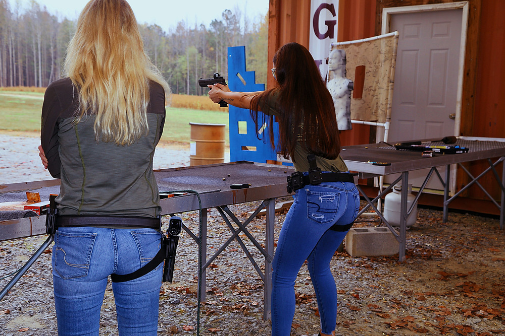 Bre working with her Sig p320 X-Five