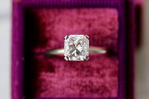SQUARE BRILLIANT CUT SOLITAIRE DIAMOND ENGAGEMENT RING