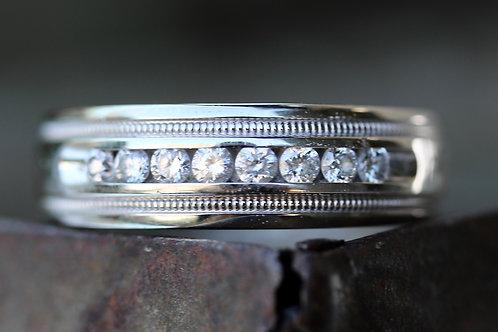 MENS ROUND DIAMOND WEDDING BAND