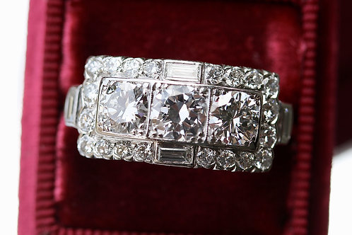 VINTAGE ARTDECO DIAMOND COCKTAIL RING