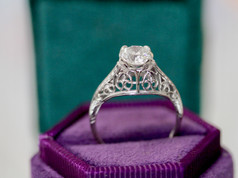 SIde View of Antique Ring