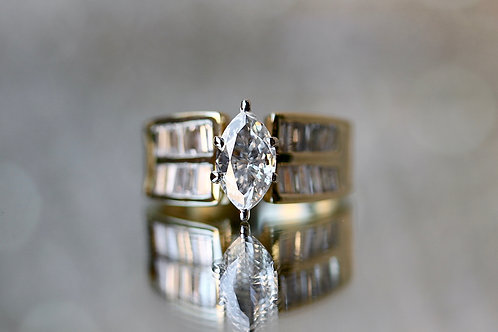 MARQUISE & BAGUETTE ENGAGEMENT RING