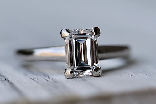 EMERALD CUT SOLITAIRE ENGAGEMENT RING