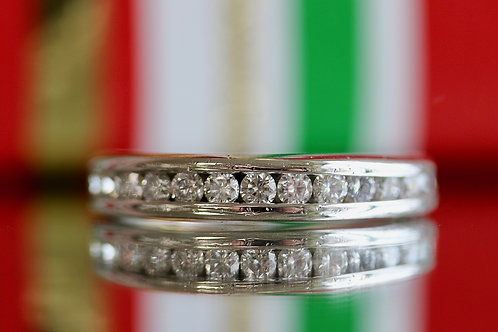 MENS CHANNEL SET DIAMOND WEDDING BAND