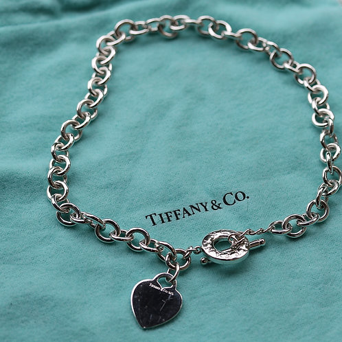 TIFFANYS HEART TAG CHAIN NECKLACE