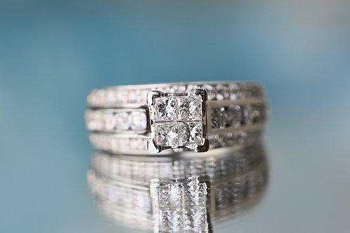 ILLUSION SET DIAMOND ENGAGEMENT RING