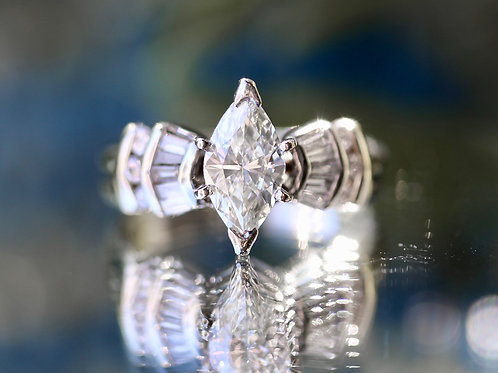 MARQUISE & BAGUETTE DIAMOND WEDDING SET