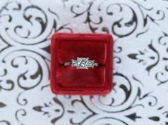 princess cut, engagement ring, princess cut pawn shop