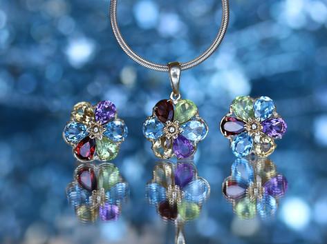 gemstone jewelry, garnet, blue topaz, citrine, amethyst, citrine, virginia beach jewelry store