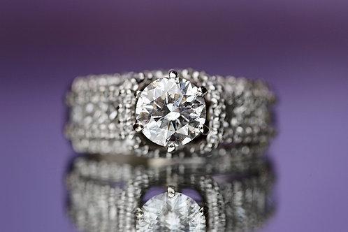 ROUND DIAMOND BYPASS ENGAGEMENT RINGM