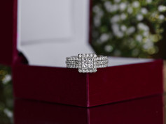 illusion set, White gold, engagement ring, virginia beach jewelry store hilltop pawn