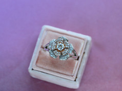flower ring, rose gold, virginia beach jewelry store, hilltop pawn