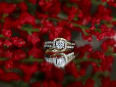 round diamond, yellow gold, engagement ring, virginia beach jewlery store, hilltop pawn