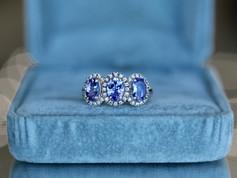 tanzanite, sterling silver, fashion jewelry, virginia beach jewelry store, hilltop pawn