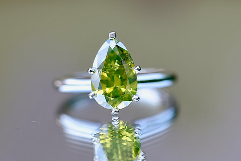 PEAR CUT YELLOW DIAMOND RING