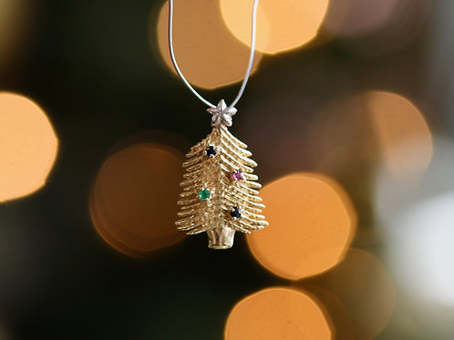 GEMSTONE CHRISTMAS TREE PENDANT