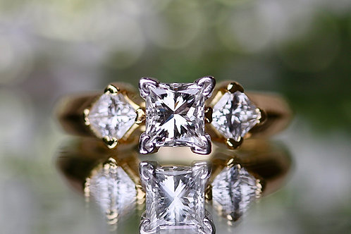 LEO PAST, PRESENT AND FUTURE PRINCESS CUT ENGAGEMENT RING