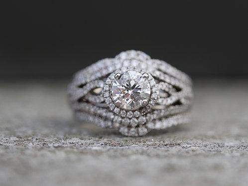 ROUND DIAMOND MULTI BAND WEDDING SET