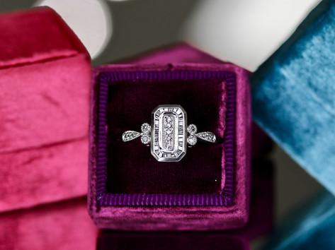 baguette diamonds, round diamonds, engagement ring, virginia beach jewelry store, hilltop pawn
